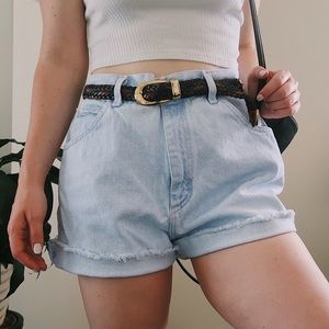 Vintage Lee High waisted light denim shorts